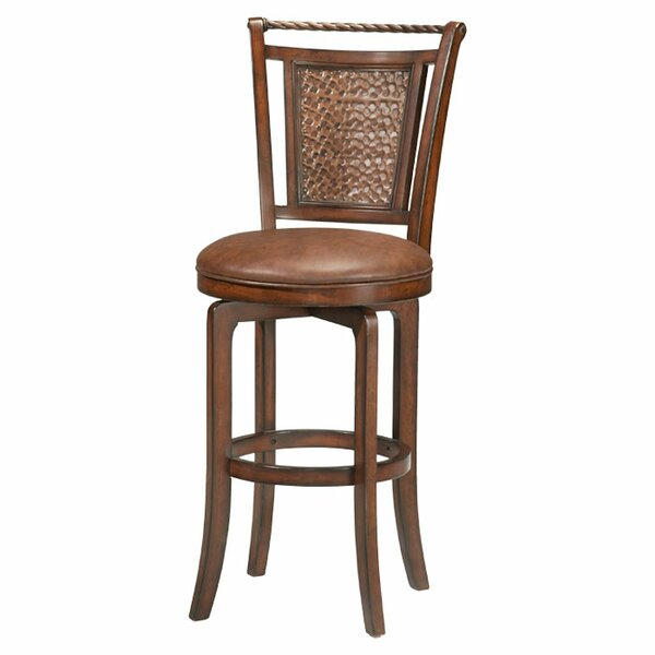 Ali 26.5 Swivel Bar Stool by World Menagerie