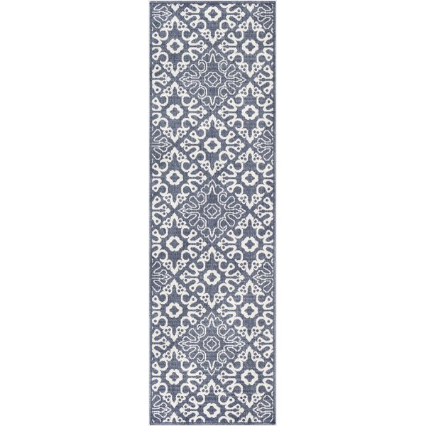 Charcoal/Denim Indoor/Outdoor Area Rug by Birch Lane™