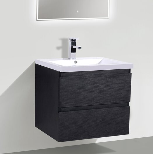 Lina 24 Wall Mounted Single Bathroom Vanity Set by Orren EllisLina 24 Wall Mounted Single Bathroom Vanity Set by Orren Ellis