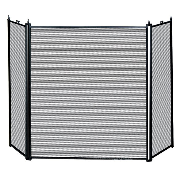 Echeverria 3 Panel Metal Fireplace Screen By Millwood Pines