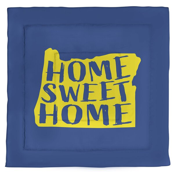 Oregon Home Sweet Single Reversible Comforter