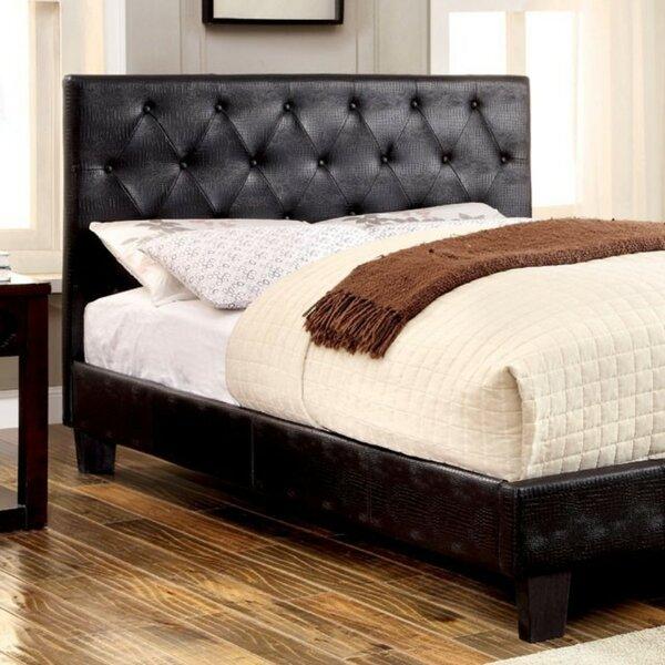 Laniel Crocodile Skin Leatherette Upholstered Platform Bed by Latitude Run