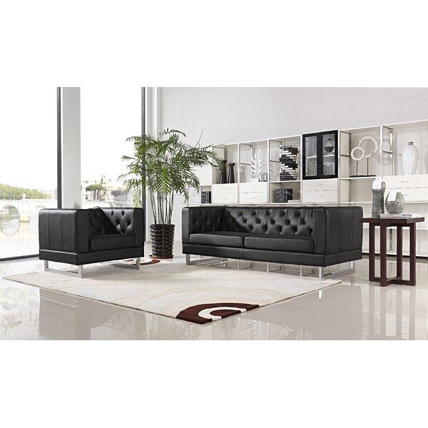 Obregon 2 Piece Solid Living Room Set by Orren Ellis