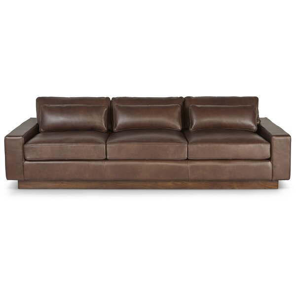Corrine Leather Sofa by Foundry Select