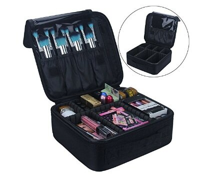 Train Case Cosmetic Makeup Organizer by LANGRIA