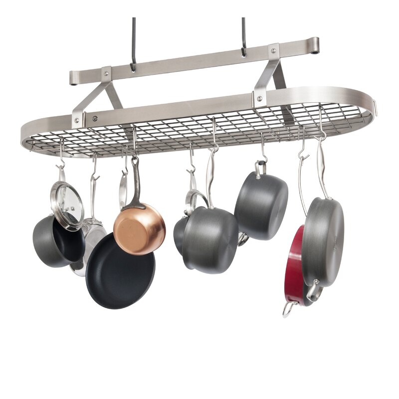 organizer pot pans hanger storage pots pan features itm kitchen hanging new cookware product rack