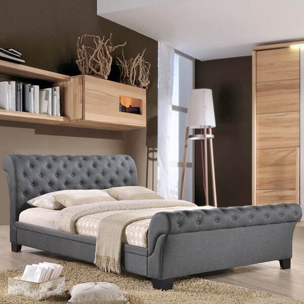 Queen Upholstered Sleigh Bed by Modway