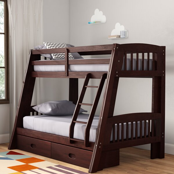 Madyson Twin Over Full Bunk Bed With Storage By Viv + Rae