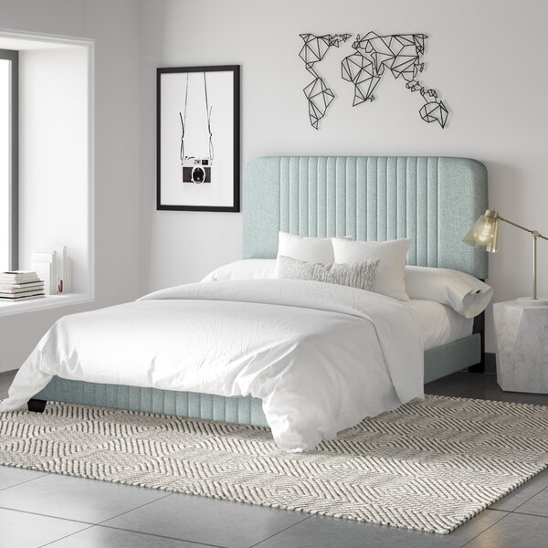 Delp Mid-Century All-in-One Upholstered Standard Bed by Mercury Row