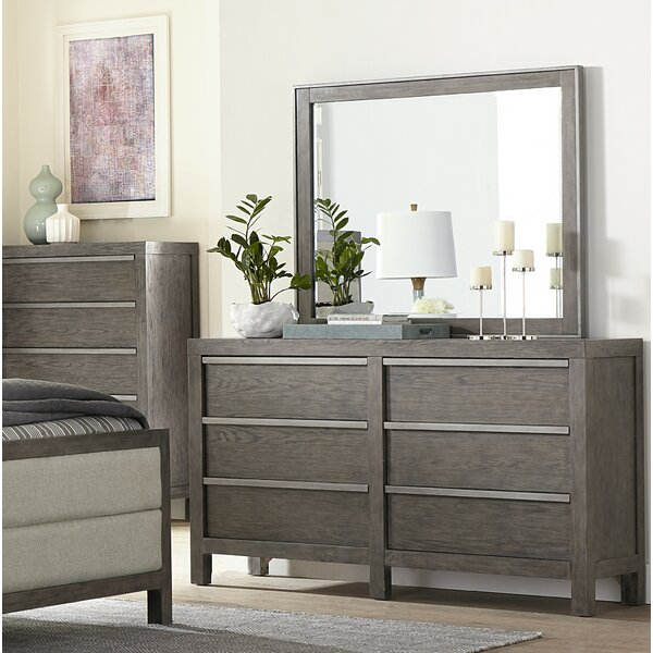 Melbourne 6 Drawer Double Dresser with Mirror by Williston Forge