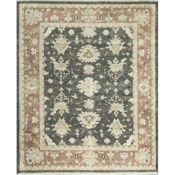 Oushak One-of-a-Kind Hand-Knotted Wool Brown Area Rug by Bokara Rug Co., Inc.