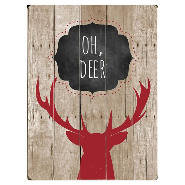 Oh Deer Graphic Art Multi-Piece Image on Wood by Artehouse LLC