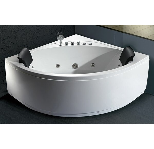 59 x 59 Double Seat Corner Whirlpool Bathtub by EAGO