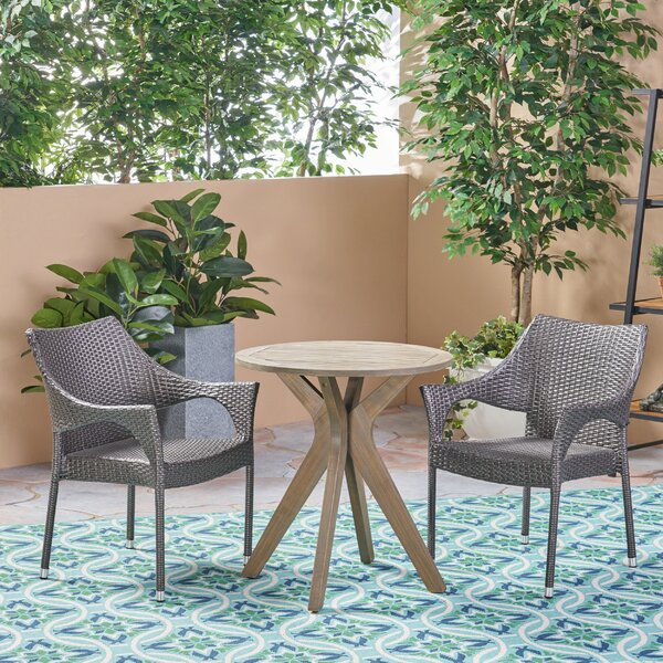 Macaulay Outdoor 3 Piece Bistro Set by Bungalow Rose