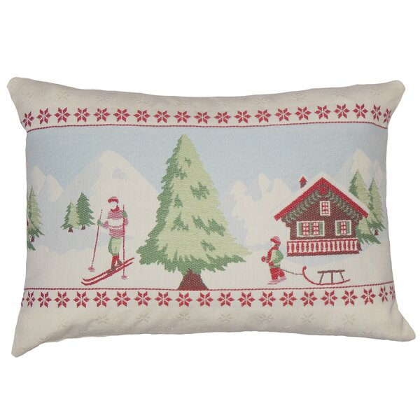 Kevin Holiday Floor Pillow by Loon Peak