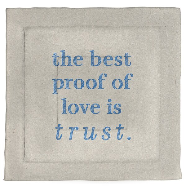 Love & Trust Quote Single Reversible Comforter