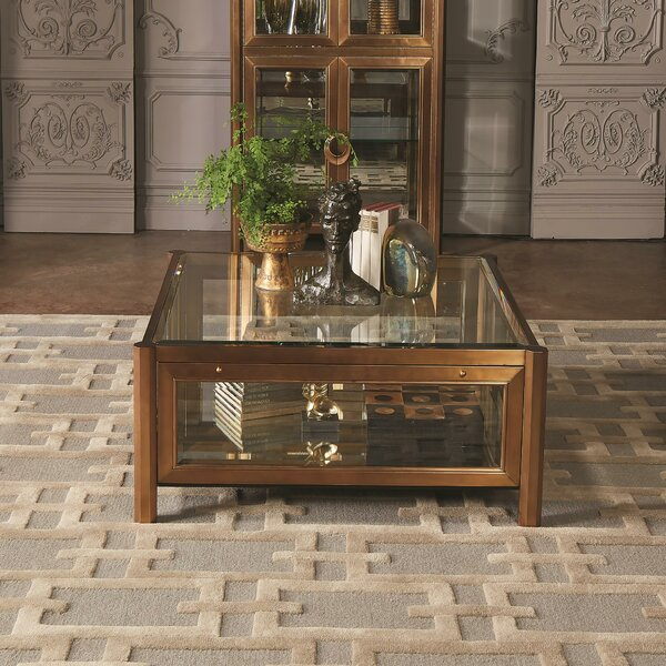 Apothecary Coffee Table With Tray Top By Global Views