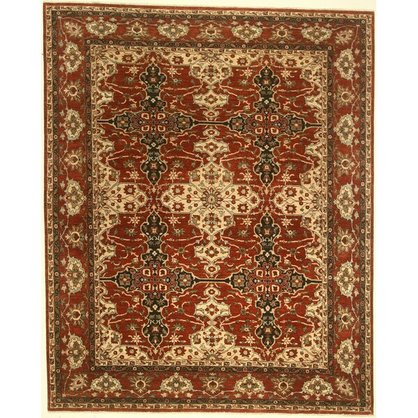 One-of-a-Kind Coral Springs Hand-Knotted Wool Red Area Rug by Isabelline