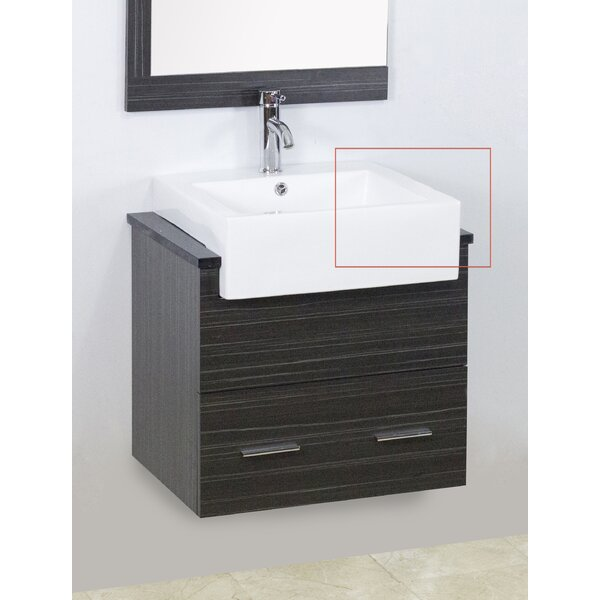 Mulberry Wall Mount 60 Wall-Mounted Double Bathroom Vanity Set by Royal Purple Bath Kitchen