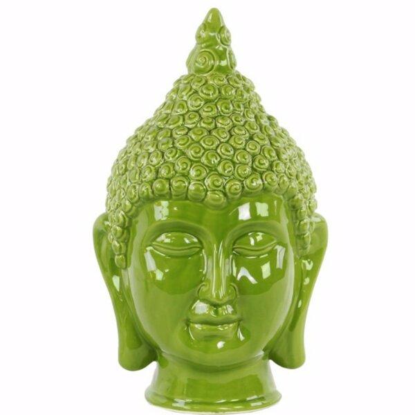 Greenberry Buddha Head with Pointed Ushnisha by World Menagerie