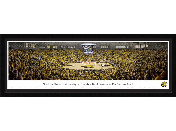 NCAA Wichita State University - Charles Koch Arena by James Simmons Framed Photographic Print by Blakeway Worldwide Panoramas, Inc