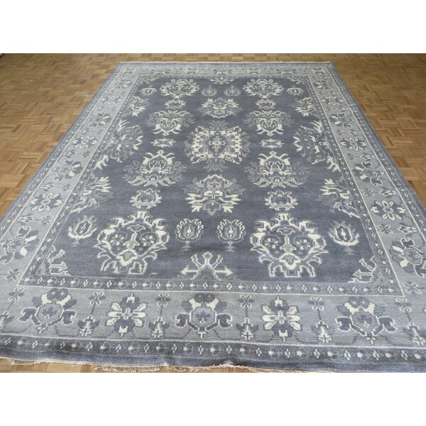 One-of-a-Kind Josephson Oushak Ushak Hand-Knotted Wool Gray Area Rug by Canora Grey