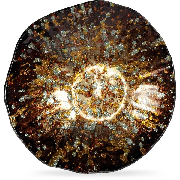Golden Glass Plate (Set of 3) by World Menagerie