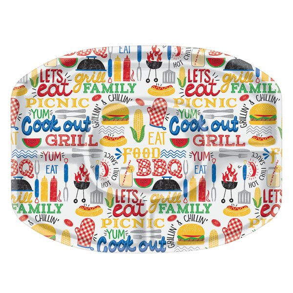 Summer BBQ Plastic Sectional Platter (Set of 2) by Amscan