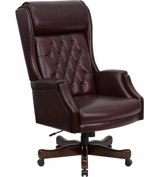 Hyatt High-Back Tufted Executive Chair by Canora Grey