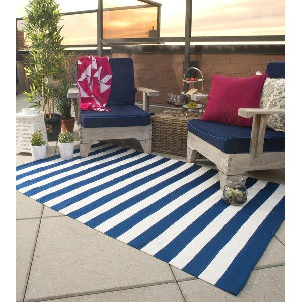 Nantucket Hand Woven Blue/White Indoor/Outdoor Area Rug by Fab Habitat
