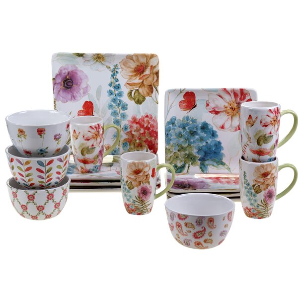 Acanthe 16 Piece Dinnerware Set, Service for 4 by August Grove