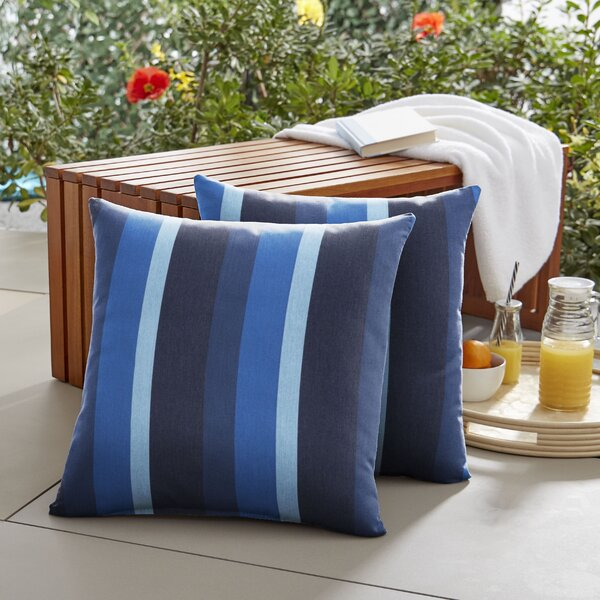 Ainsley Indoor/Outdoor Throw Pillow (Set of 2) by Breakwater Bay