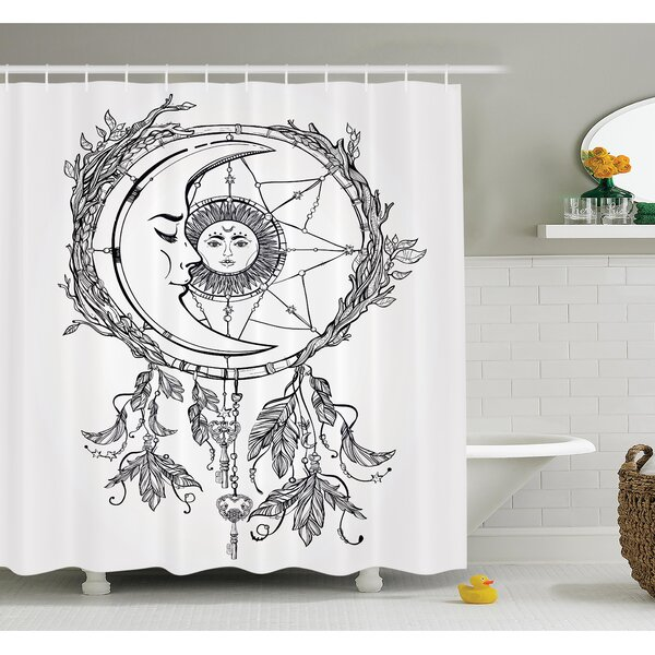 Cliff Dreamcatcher Moon Shower Curtain Set by Latitude Run