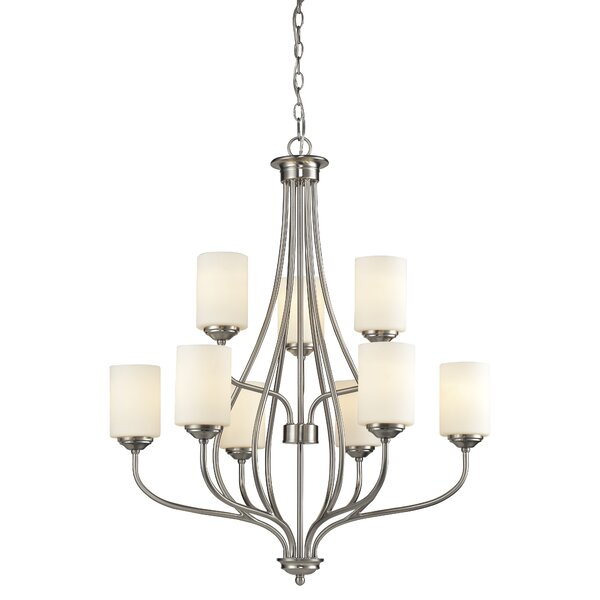 Willaims 9-Light Shaded Tiered Chandelier by Charlton Home Charlton Home