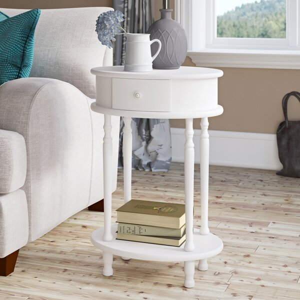 Mikel End Table With Storage By Ophelia & Co.