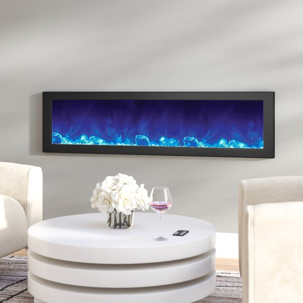 Atoll Built-In Wall Mounted Electric Fireplace By Orren Ellis