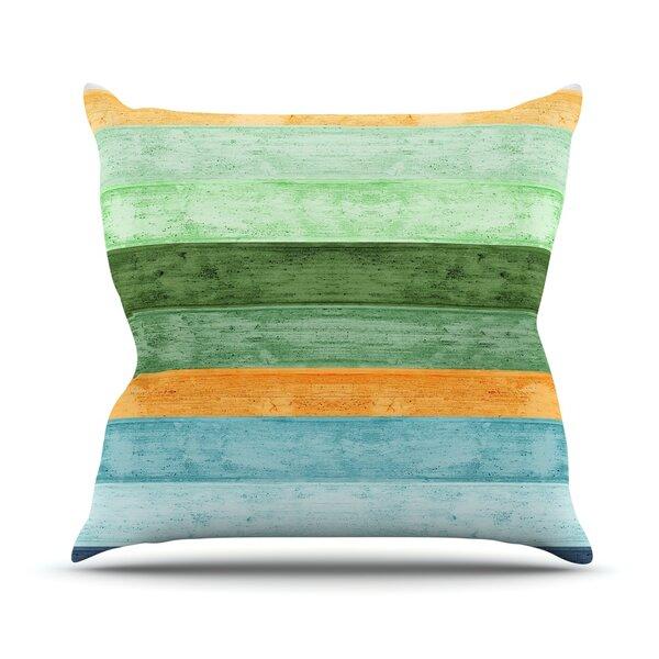 Beach Wood by Monika Strigel Outdoor Throw Pillow by East Urban Home
