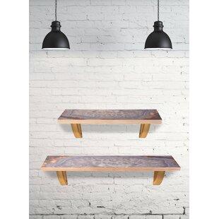 "Grey Agate 24"" Wooden Wall Shelf"