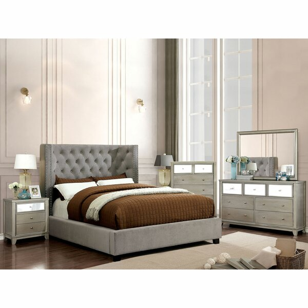 Chulmleigh Upholstered Standard Bed by Everly Quinn