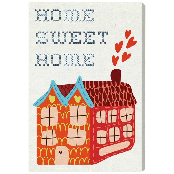 Abby Kids Home Sweet Home Canvas Art by Zoomie Kids