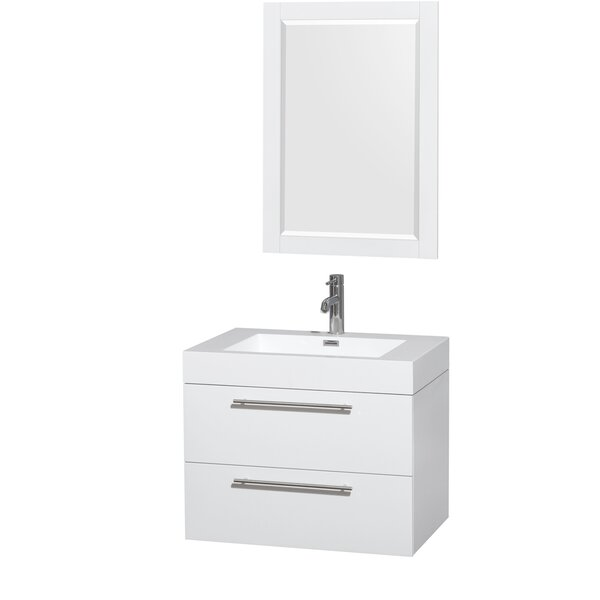 Amare 30 Single Bathroom Vanity Set with Mirror by Wyndham Collection