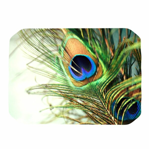 Peacock Feather Placemat by KESS InHouse