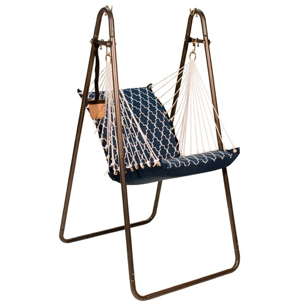 Fielding Polyester Chair Hammock with Stand by Bungalow Rose Bungalow Rose