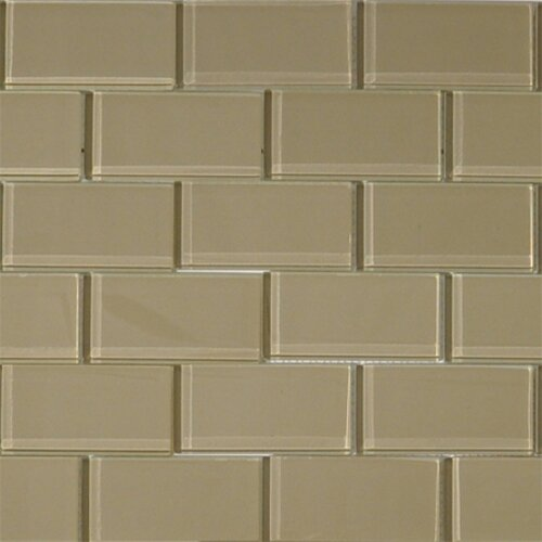 2 x 4 Glass Subway Tile in Wheat by The Bella Collection