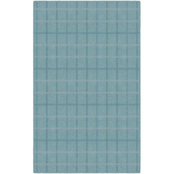 Jana Muted Plaid Blue Area Rug by Gracie Oaks