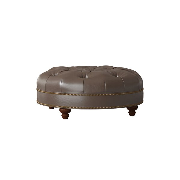 Blake Leather Tufted Cocktail Ottoman by Bradington-Young