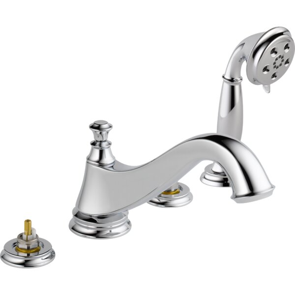 Cassidy Deck Mounted Roman Tub Faucet Trim With Handshower By Delta