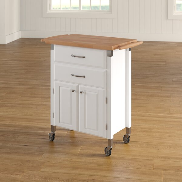 Hamilton Kitchen Cart with Wood Top by Charlton Home