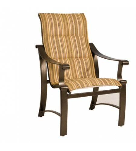 Bungalow Sling High-Back Patio Dining Chair by Woodard