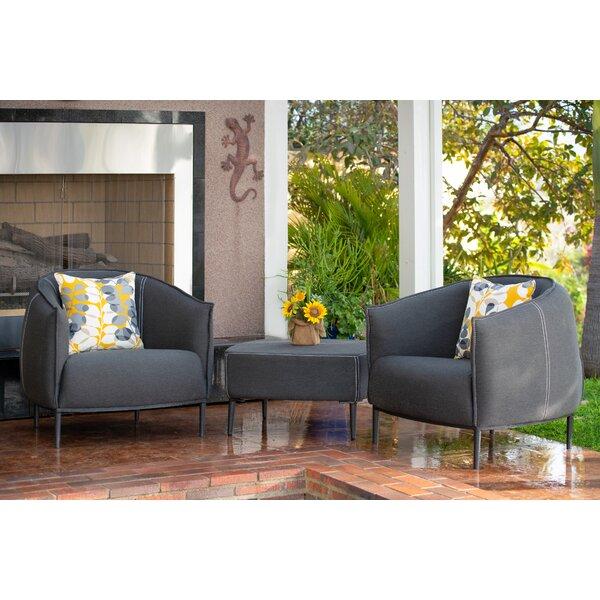 Emory 3 Piece Sunbrella Deep Seating Set with Cushions by Brayden Studio